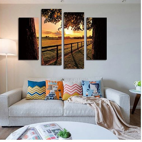 High-Definition Painting Picture Home Decor Wall Art Evening Farm Landscape Canv