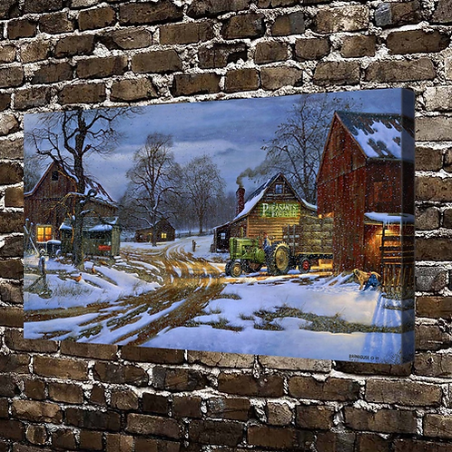 A0479 Dave Barnhouse Country Partners Landscape, HD Canvas Print Home decoration
