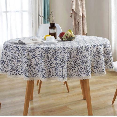 Classical Vintage Round Tablecloths 150CM Diameter Table Covers Linen Cotton Ret