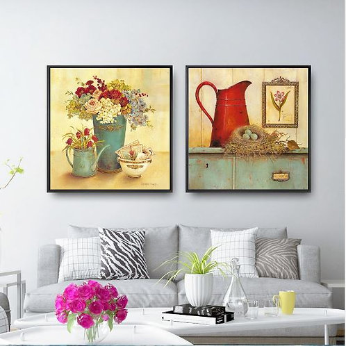 Painting Print Canvas Wall Art Pictures Square Poster Oil Unframed Drawings Rust