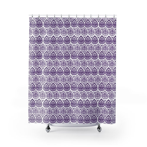 Byzantine Drops Caliphate Shower Curtain