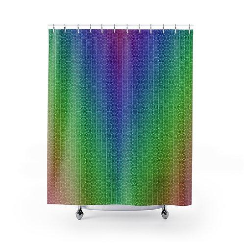 Rainbow Mamluk Caliphate Shower Curtain
