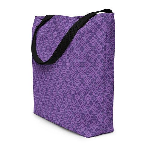 Violet Repeat Beach Bag