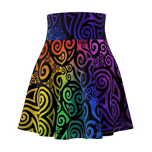 Celtic Rainbow Skater Skirt (Black)