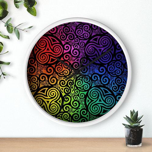 Celtic Rainbow Wall clock