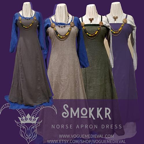 Wool Norse Apron Dress / Smokkr
