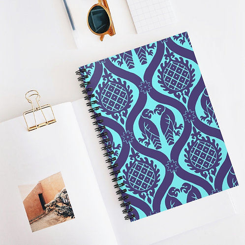 Peppermint Birds and Pineapples Spiral Notebook - Ruled Line