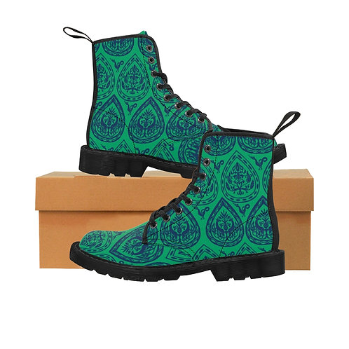 Byzantine Drop Canvas Boots