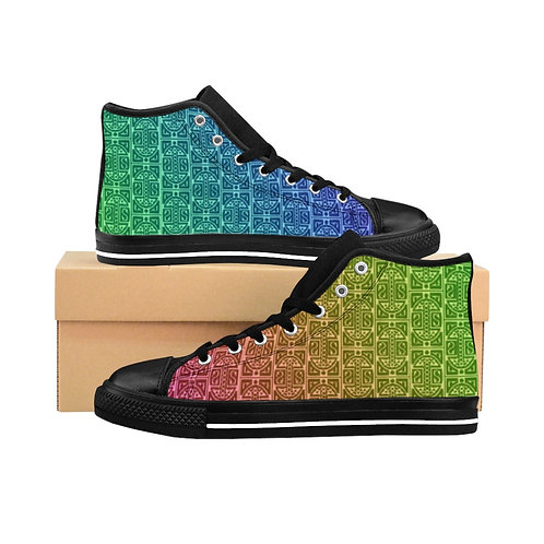 Rainbow Mamluk Caliphate Men's High-top Sneakers