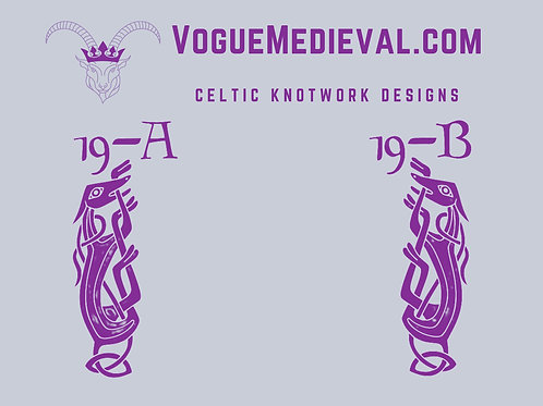 Celtic Stamp for Fabric/Leather/Clay/Soap (Designs 19-25)