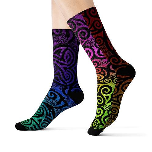 Celtic Rainbow Sublimation Socks