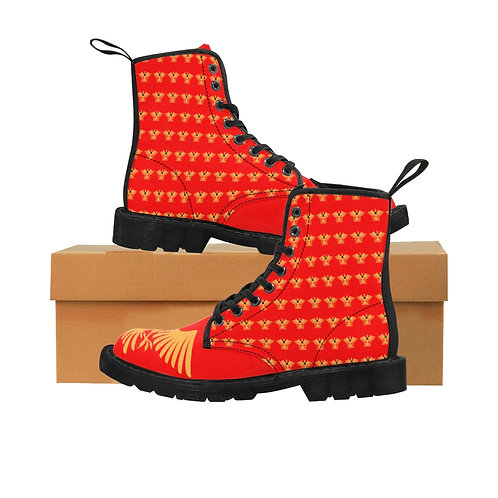 Centurions of the Sable Star of Ansteorra Canvas Boots