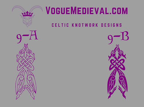 Celtic Stamp for Fabric/Leather/Clay/Soap (Designs 9-18)