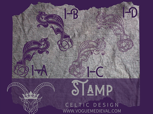 Celtic Stamp for Fabric/Leather/Clay/Soap (Designs 1-8)