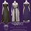 Thumbnail: Outfit: Wool & Silk Norse Apron and Linen Underdress