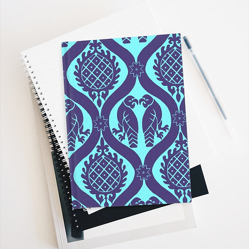 Peppermint Birds and Pineapples Journal - Blank