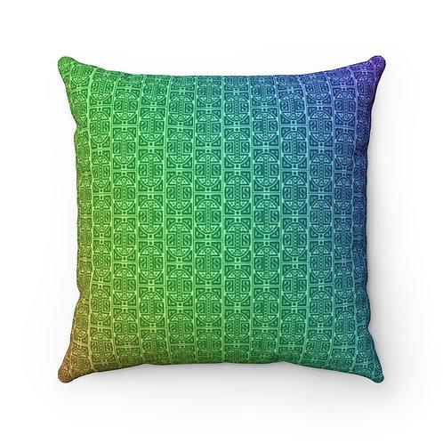 Rainbow Mamluk Caliphate Square Pillow Case