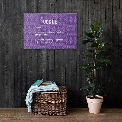 """Violet Repeat """"Vogue"""" Canvas"""