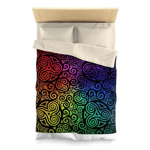 Celtic Rainbow Microfiber Duvet Cover