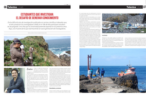 Reportaje acerca del trabajo realizado por nuestro alumno de doctorado Diego Pérez es destacado por la publicación Diario UNAB