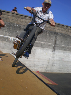 BMX Rider dropping in