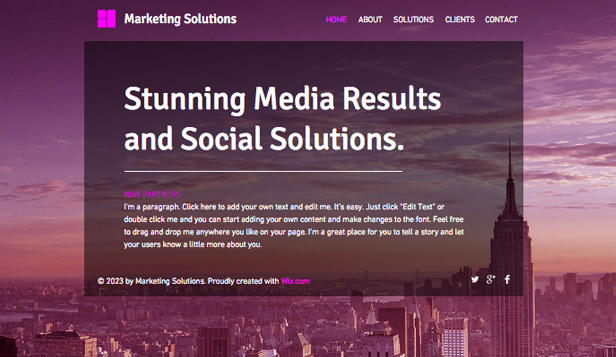 Advertising & Marketing website templates –  Marketing Strategy