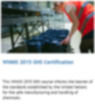 WHMIS 2015 ghs online training