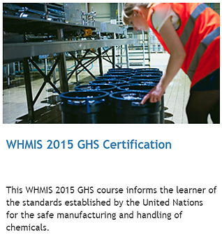 WHMIS 2015 ghs online training