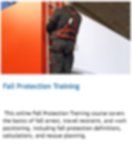 Fall protection training online alberta