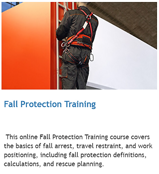 Fall protection training online alberta