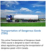 transportation of dangerous good training online TDG alberta