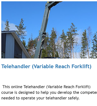 telehandler zoom boom training online alberta