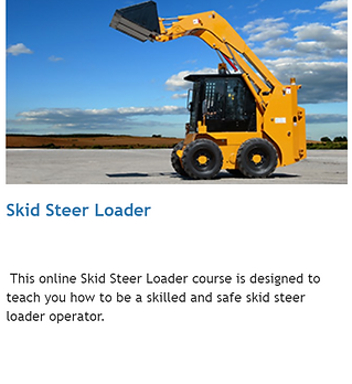 Skid Steer skisteer online operator training alberta