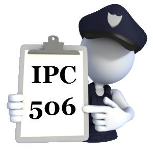 Threatening comes under 506 IPC