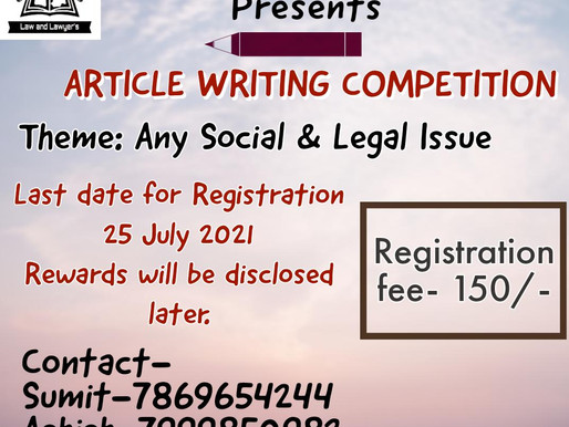 National Article Writing  Competition