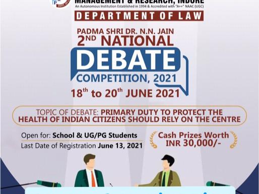 Padma Shri Dr. NN Jain National Debate Competition