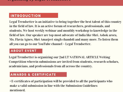 NATIONAL ARTICLE Writing Competition : Register by 5 June