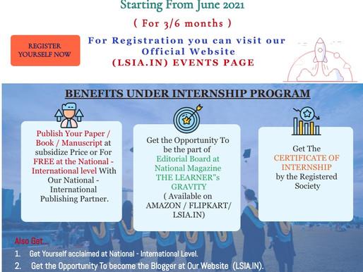 Member Cum Internship Program 2021-2022