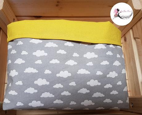 Panier de rangement jaune/gris/nuage