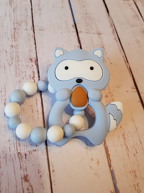 Hochet de dentition Koala Bleu/Blanc