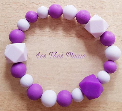 Hochet de dentition violet