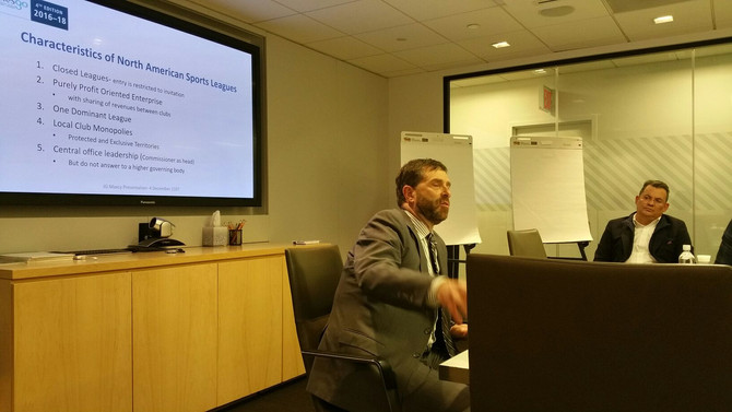 IASE President, Joel Maxcy, gave a speech to the MESGO students -MLS HeadQuarters- New York - Decemb
