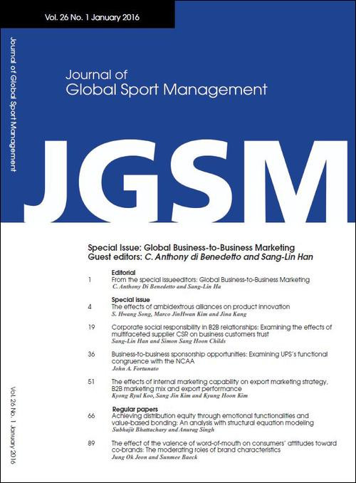 "Special Issue - Journal of Global Sport Management (JGSM) - ""Sport Economics Issues Facing Asia"