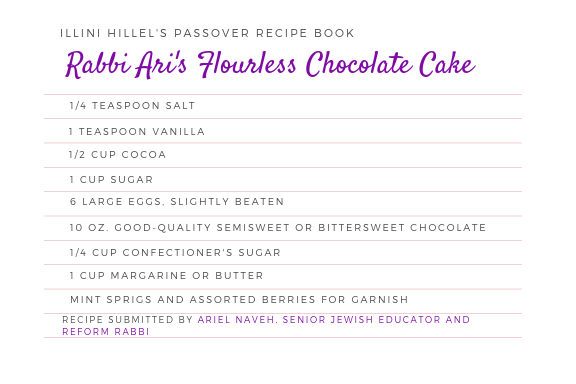 Rabbi Ari's Flourless Chocolate Cake