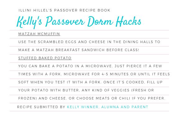 Kelly's Passover Dorm Hacks
