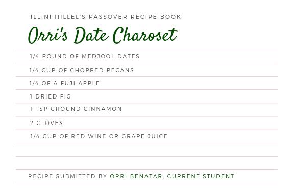 Orri's Date Charoset