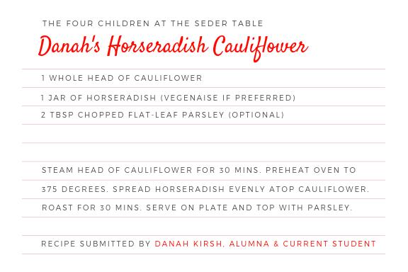 Danah's Horseradish Cauliflower