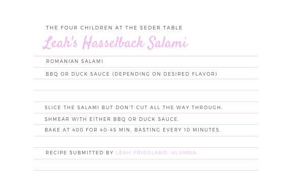 Leah's Hasselback Salami
