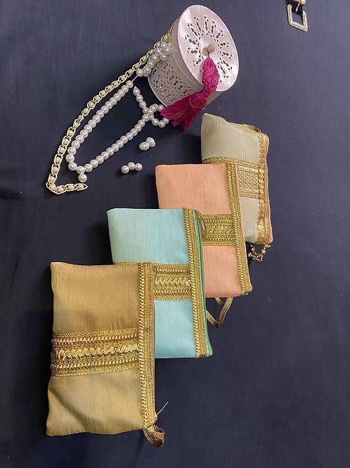 Zip wedding pouches