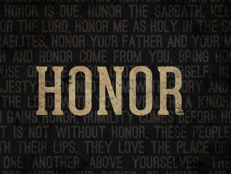 What does it mean to honor someone?